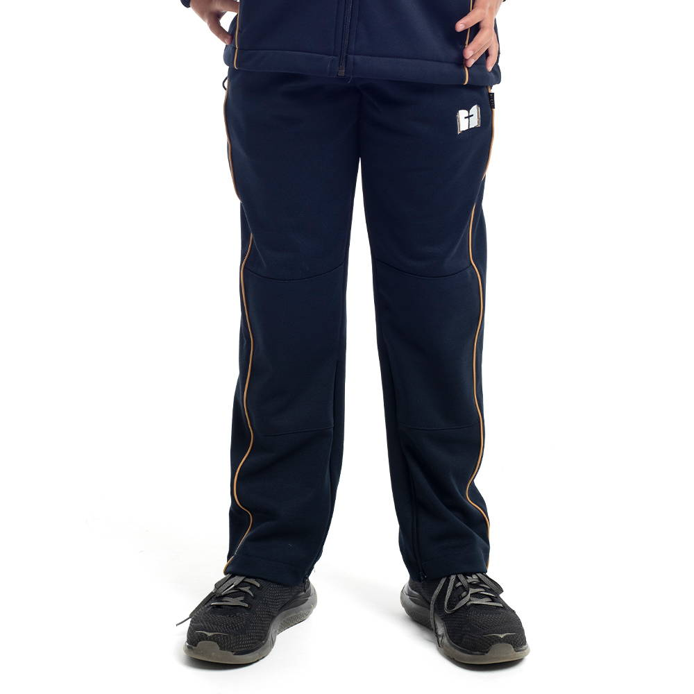 Junior track pant featuring reinforced knee panels for Toongabbie Christian College.