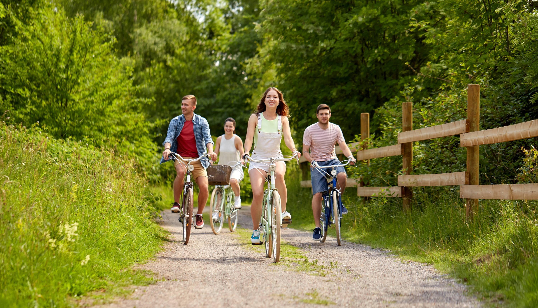 People Riding On Bikes