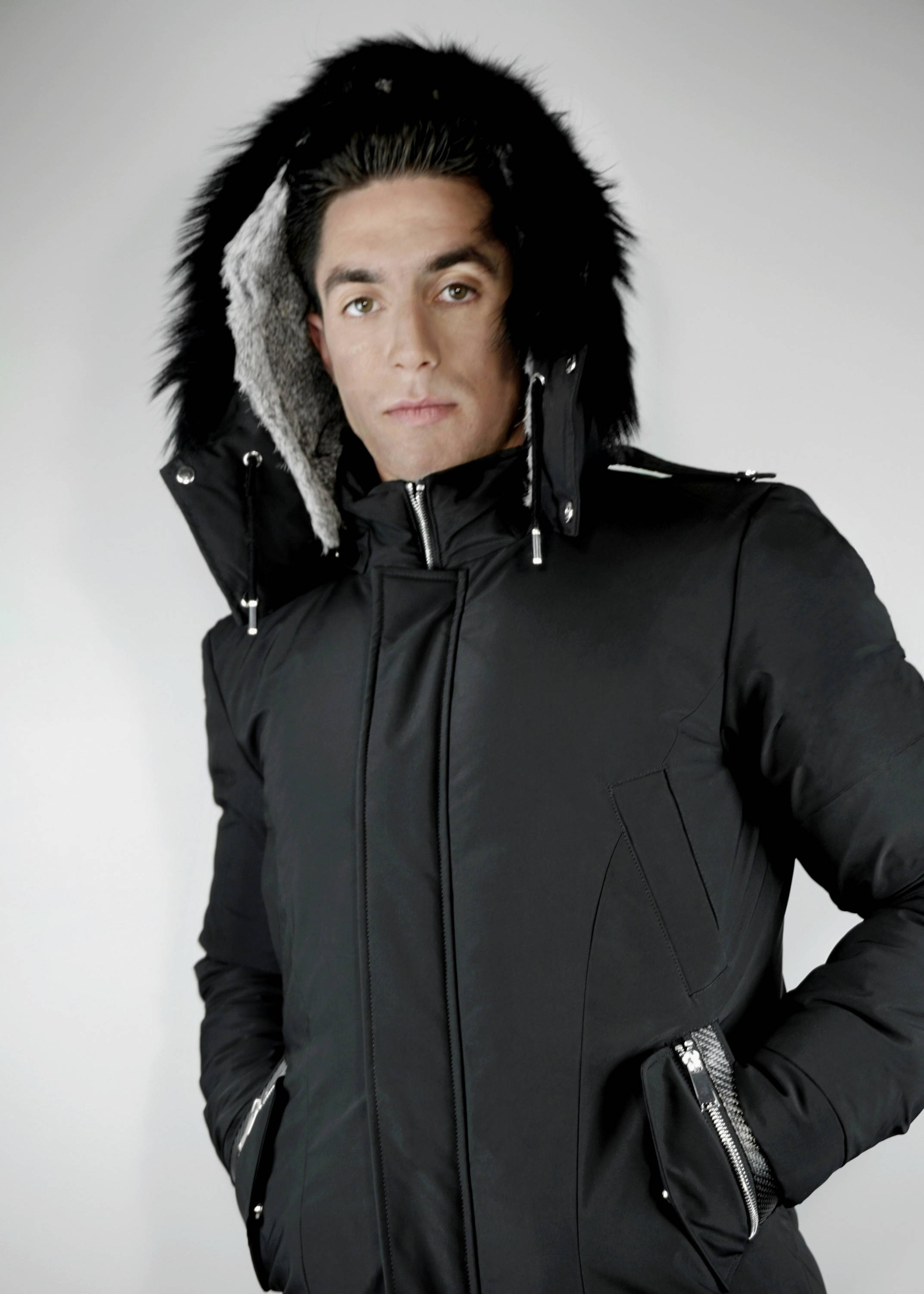 Carbonesque mens Iridium parka