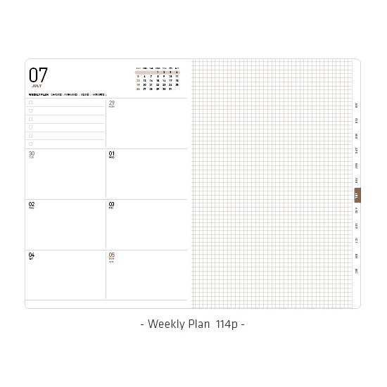 Weekly plan - Ardium 2020 Simple small dated weekly diary planner
