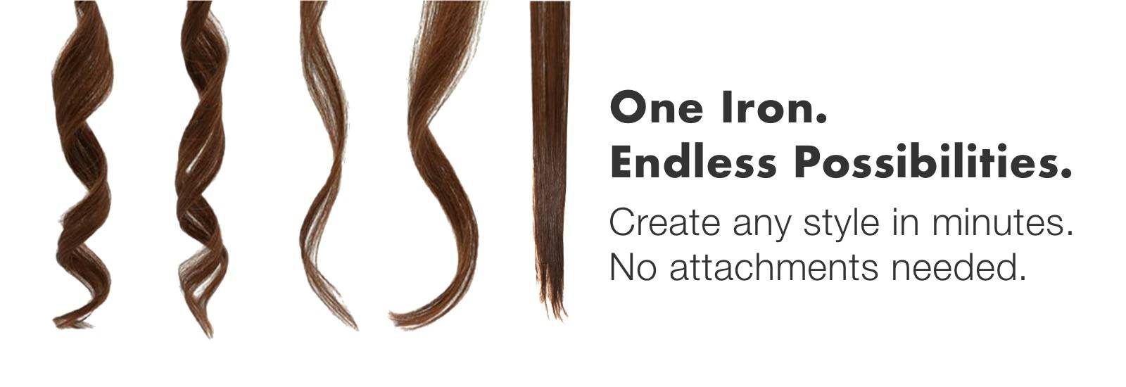 Examples of hair curls you can create with the TYME Iron