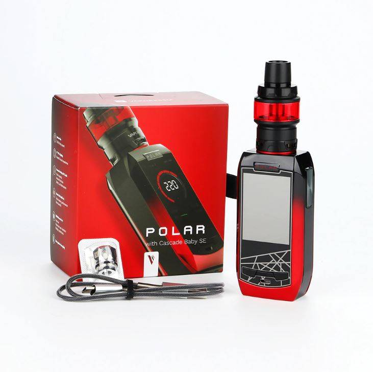 Vaporesso Polar 220W in box packaging - red