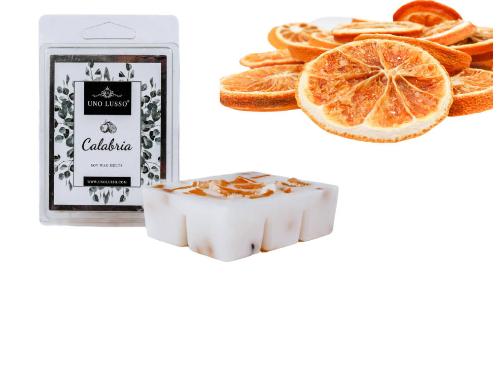 Juicy orange embeds luxury soy wax melts