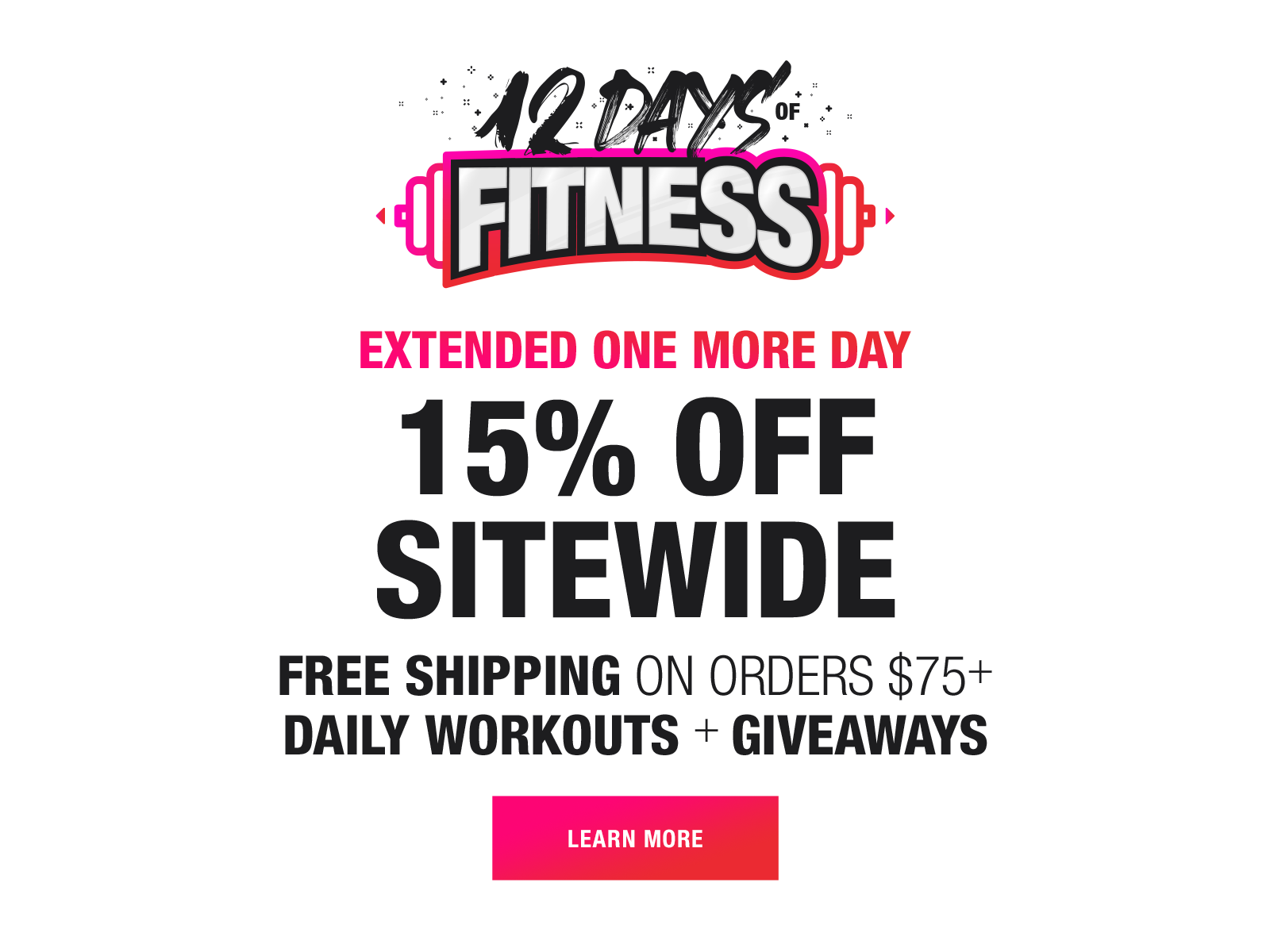 12 days of fitness extension
