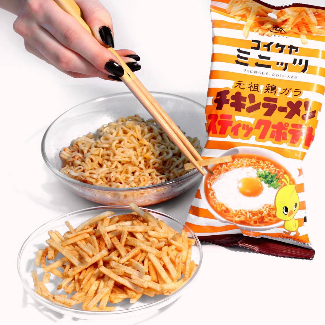 Koikeya Minit's Stick Potato: Nissin Chicken Ramen