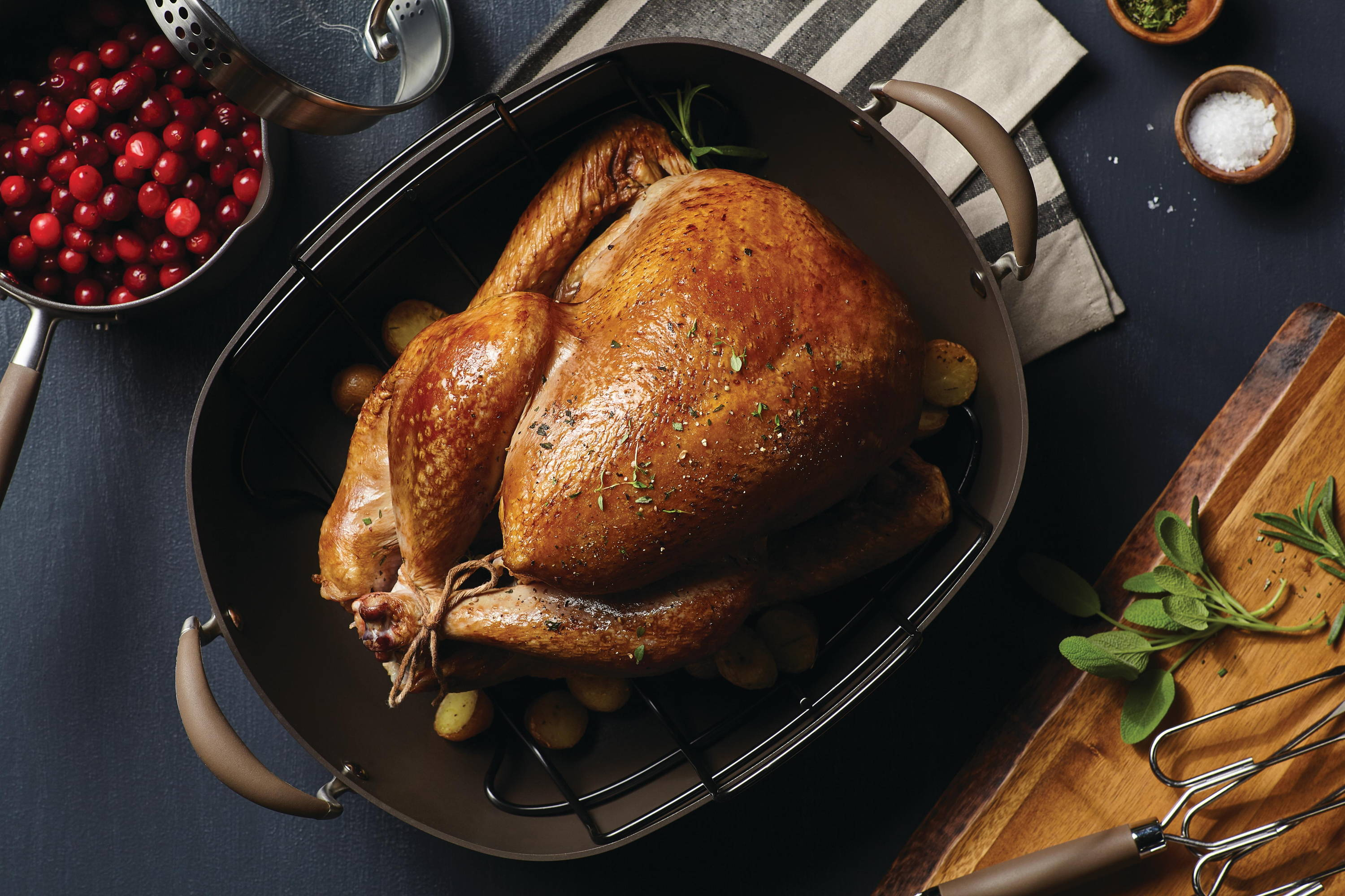 Herb Rubbed Roasted Turkey