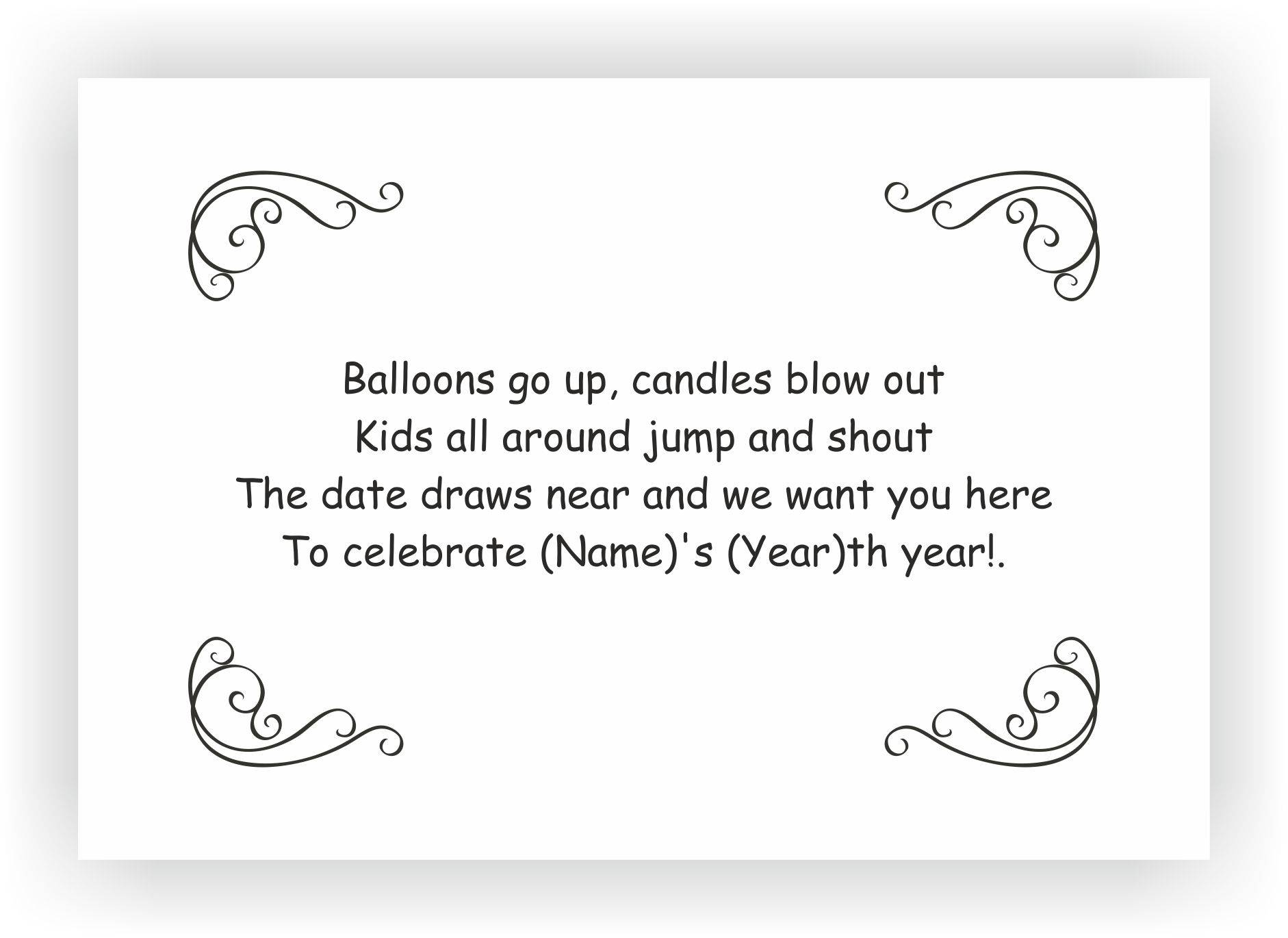 Birthday Party Invite Messages  Kids birthday Invites – CHOCOCRAFT