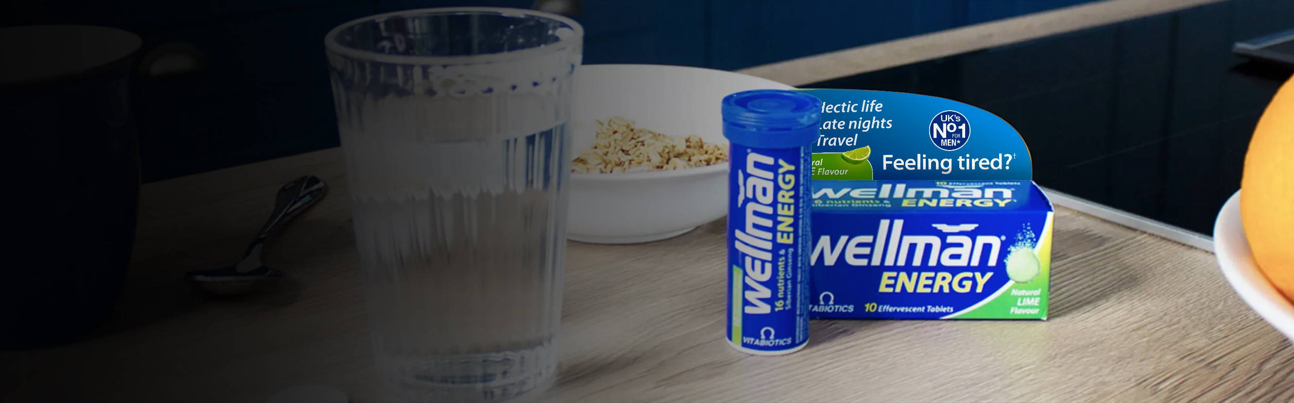 Late nights can be followed by great mornings. That's because Wellman Energy has been expertly formulated to support your nutrition, no matter how demanding your lifestyle. So you can stay at your best, even when you're putting your body through its paces.