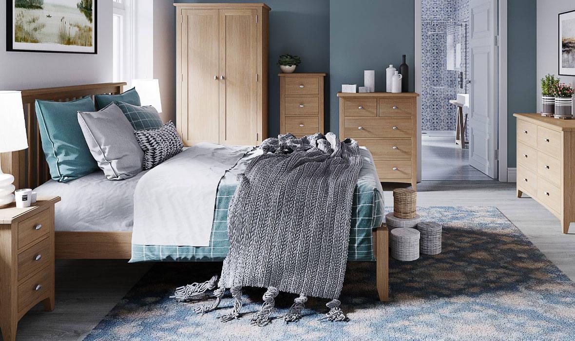 Faro Oak Bedroom Collection