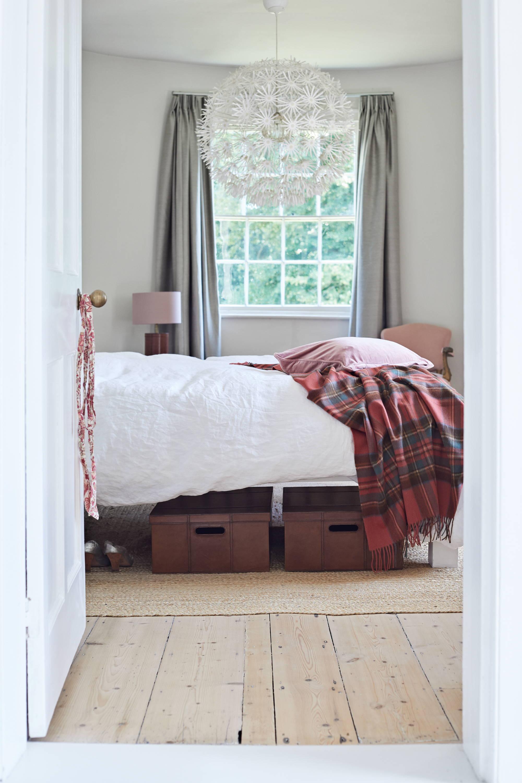 Underbed storage under a bed