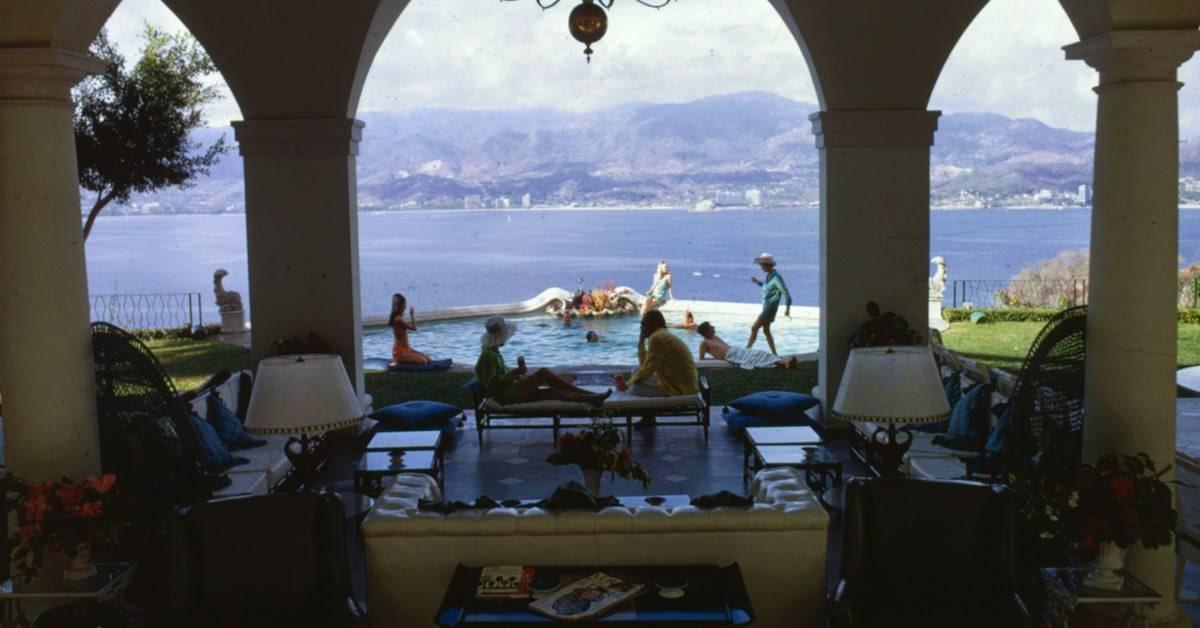 "Acapulco Villa"" (1968) by Slim Aarons. Photograph of the home of Eustaquio Escandon in Acapulco"
