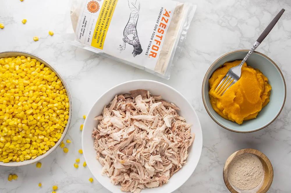 Turkey homemade dog food