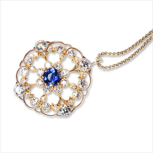 Sapphire Pin Necklace