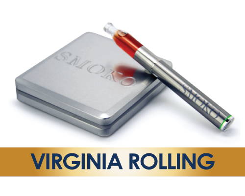 SMOKO Vape E Cigarette with Virginia Rolling Flavour E-Liquid Refill