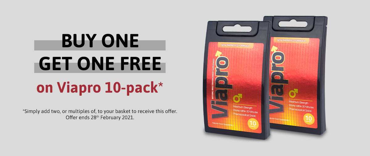 Buy one get one free Viapro 10 pack
