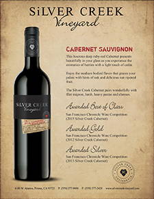 Silver Creek Cabernet Sauvignon Sell Sheet