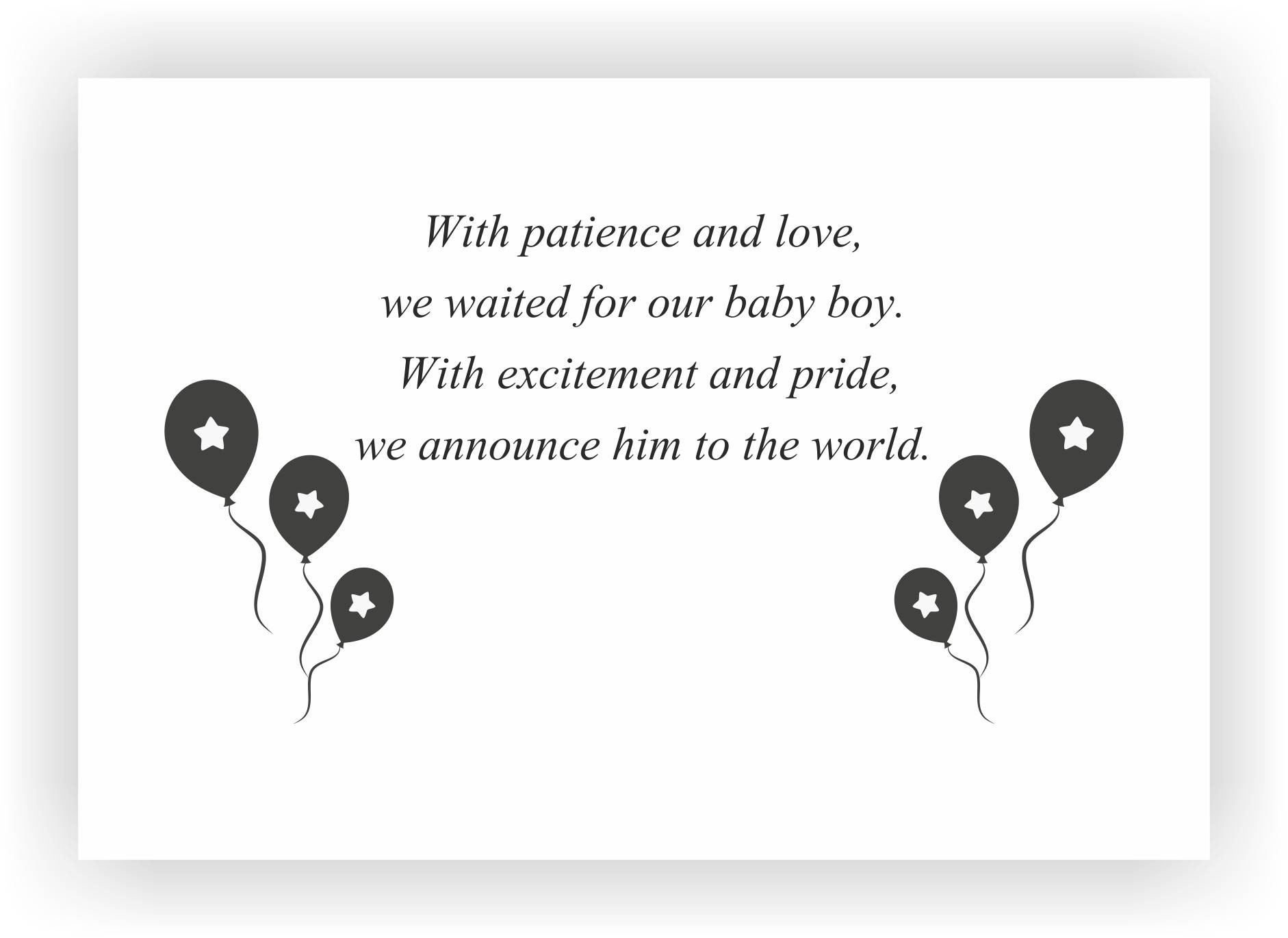 Newborn baby announcement message I Messages for the new born baby boy –  CHOCOCRAFT