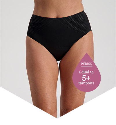 High Cut Black - Pee Panties for Light Bladder Leakage - Just'nCase by Confitex