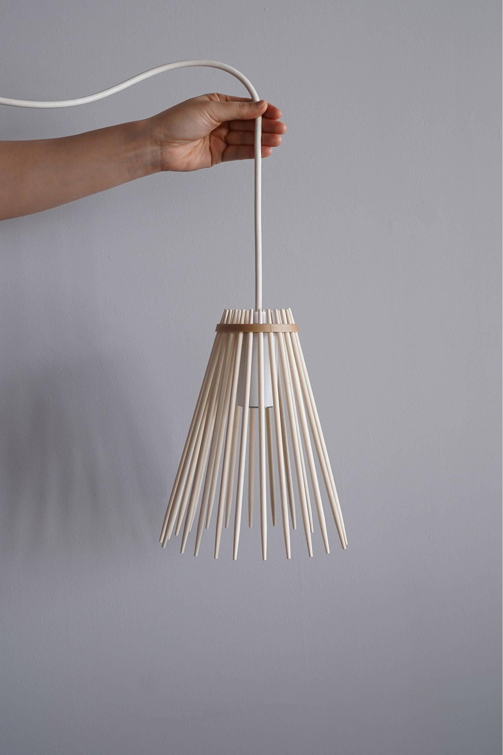Disposable chopstick lampshade by Keiji Ashizawa Design