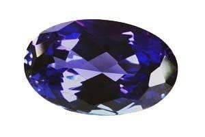 Tanzanite bleue ovale