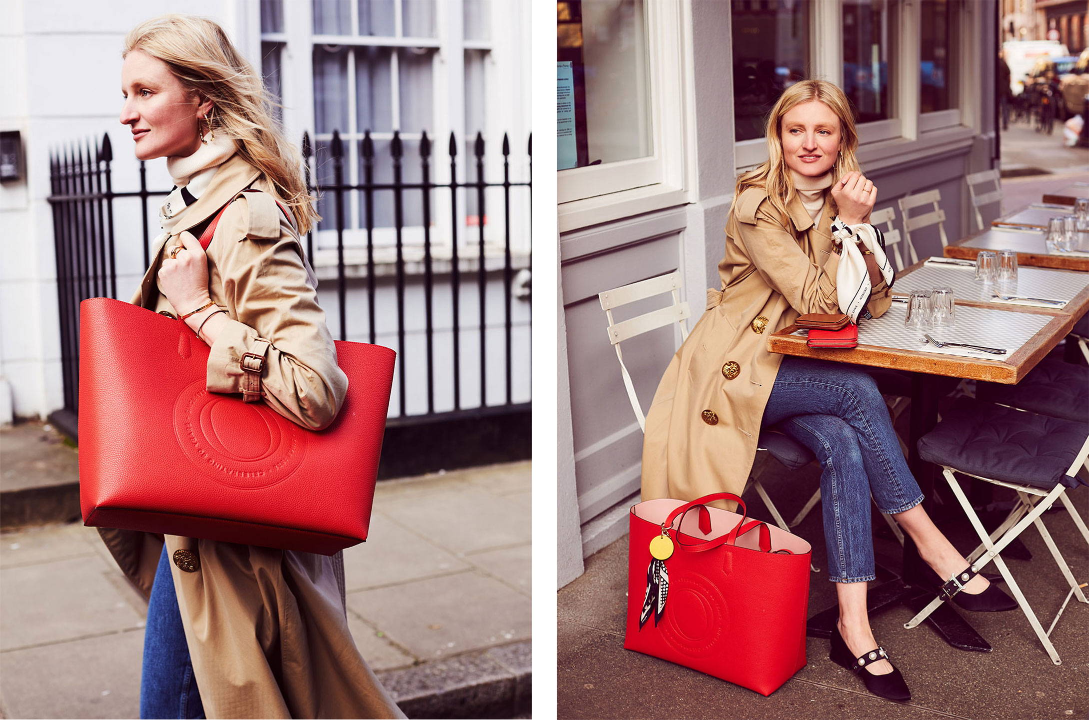 Candice Lake with Oroton Tote-Bag Red