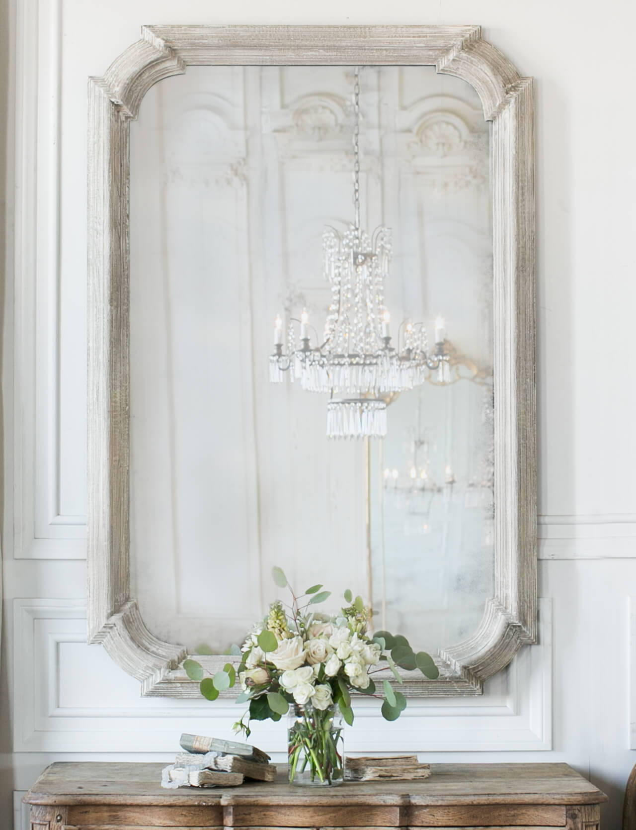 Eloquence® Vienna Mirror in Frosted Wood Finish