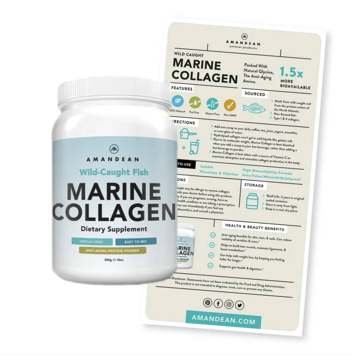 Amandean Wild-Caught Marine Collagen