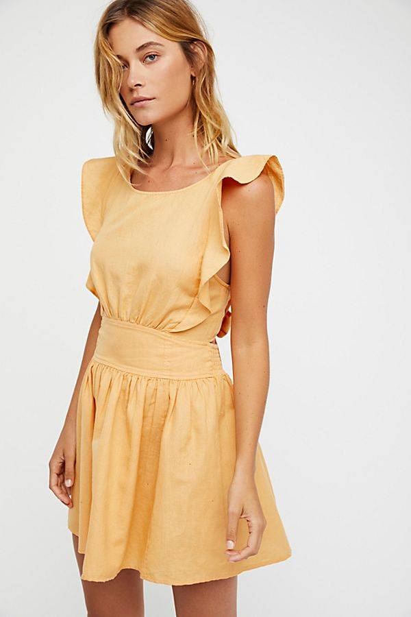 yellow spring dress from free people
