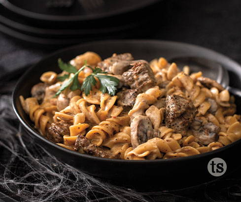 peppery beef  & noodles