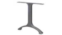 arched steel table base