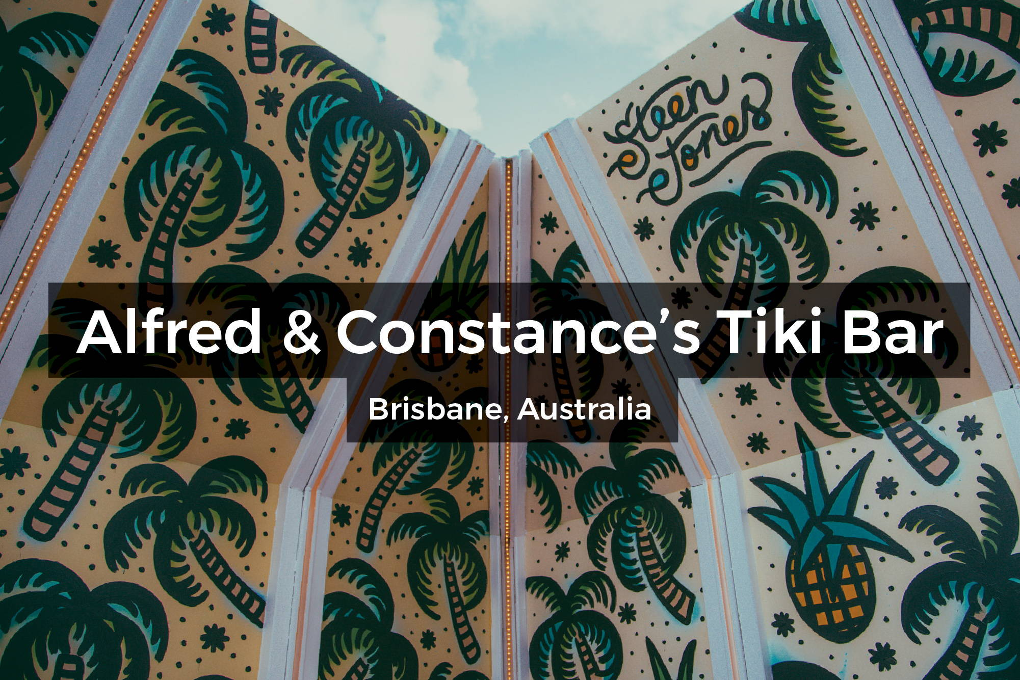Mural at Alfred & Constance in the Tiki Bar in Brisbane, Australia by Steen Jones