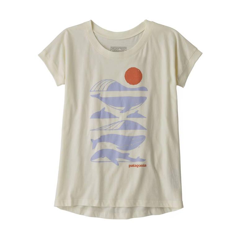 patagonia(パタゴニア)/グラフィックオーガニックTシャツ/ホワイト/GIRLS