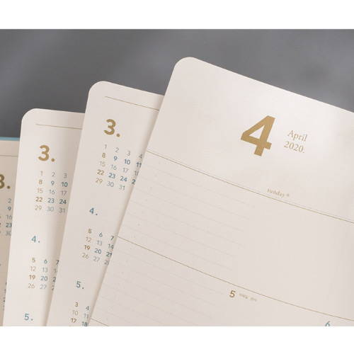 100gsm paper - 2020 Notable memory A4 dated weekly planner