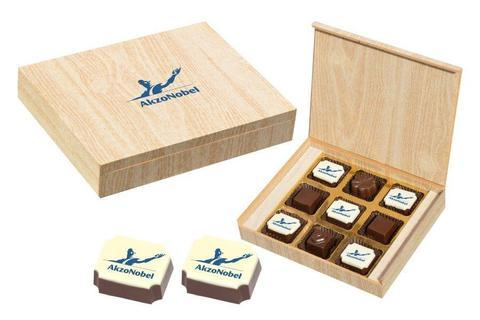 Corporate Gift Ideas - 9 Chocolate Box - Alternate Printed Candies (10 Boxes)