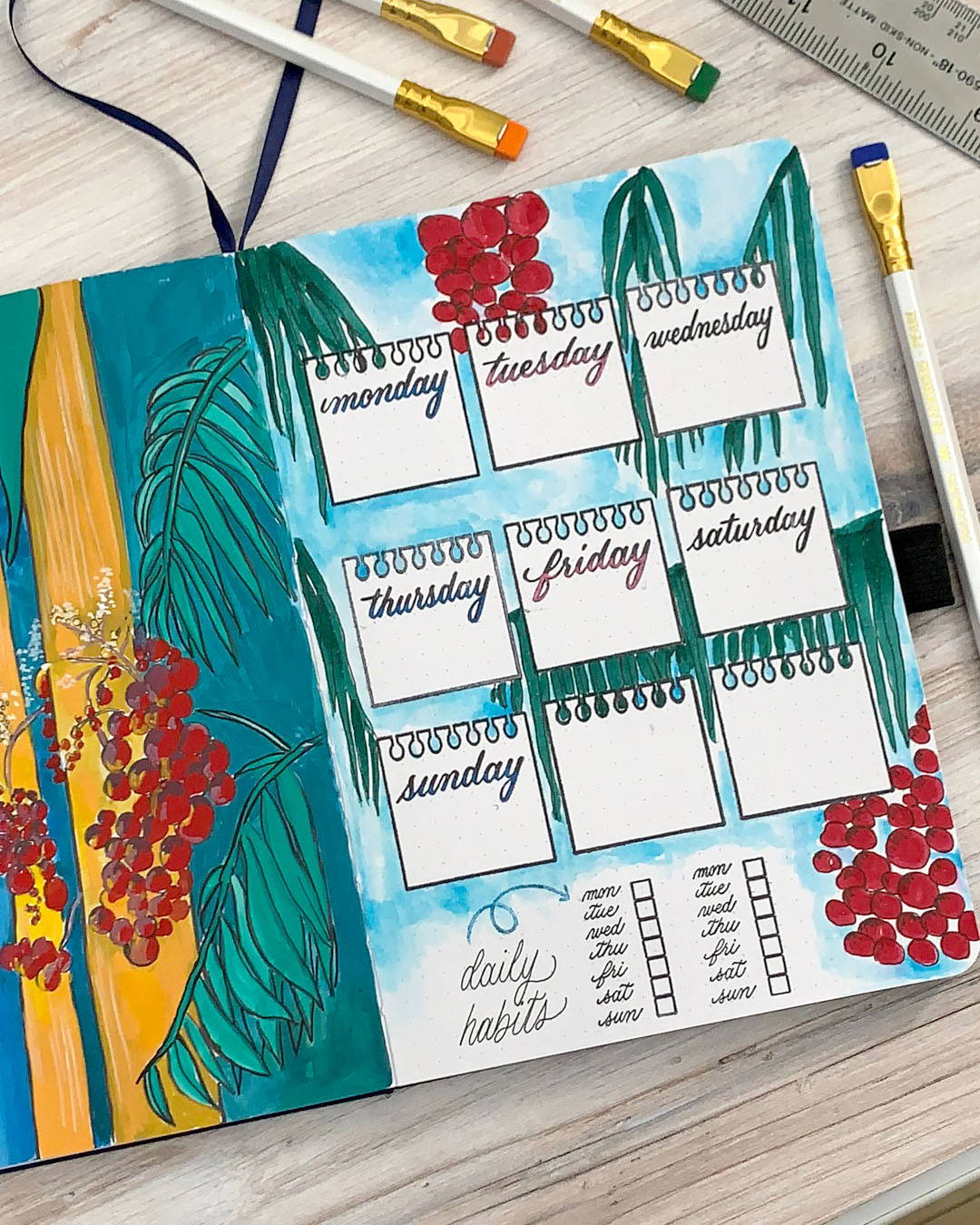 Stamped bullet journal ideas