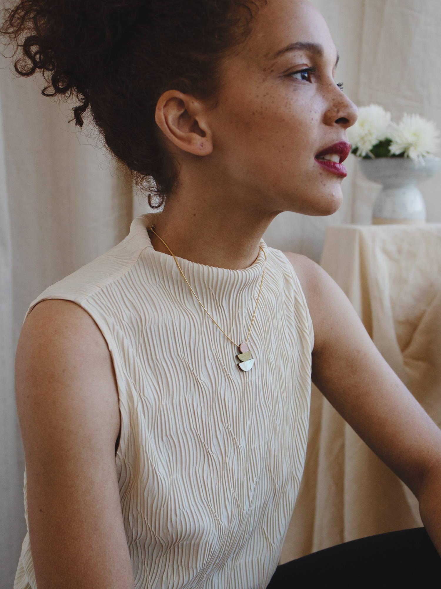 Selene Necklace in Blush