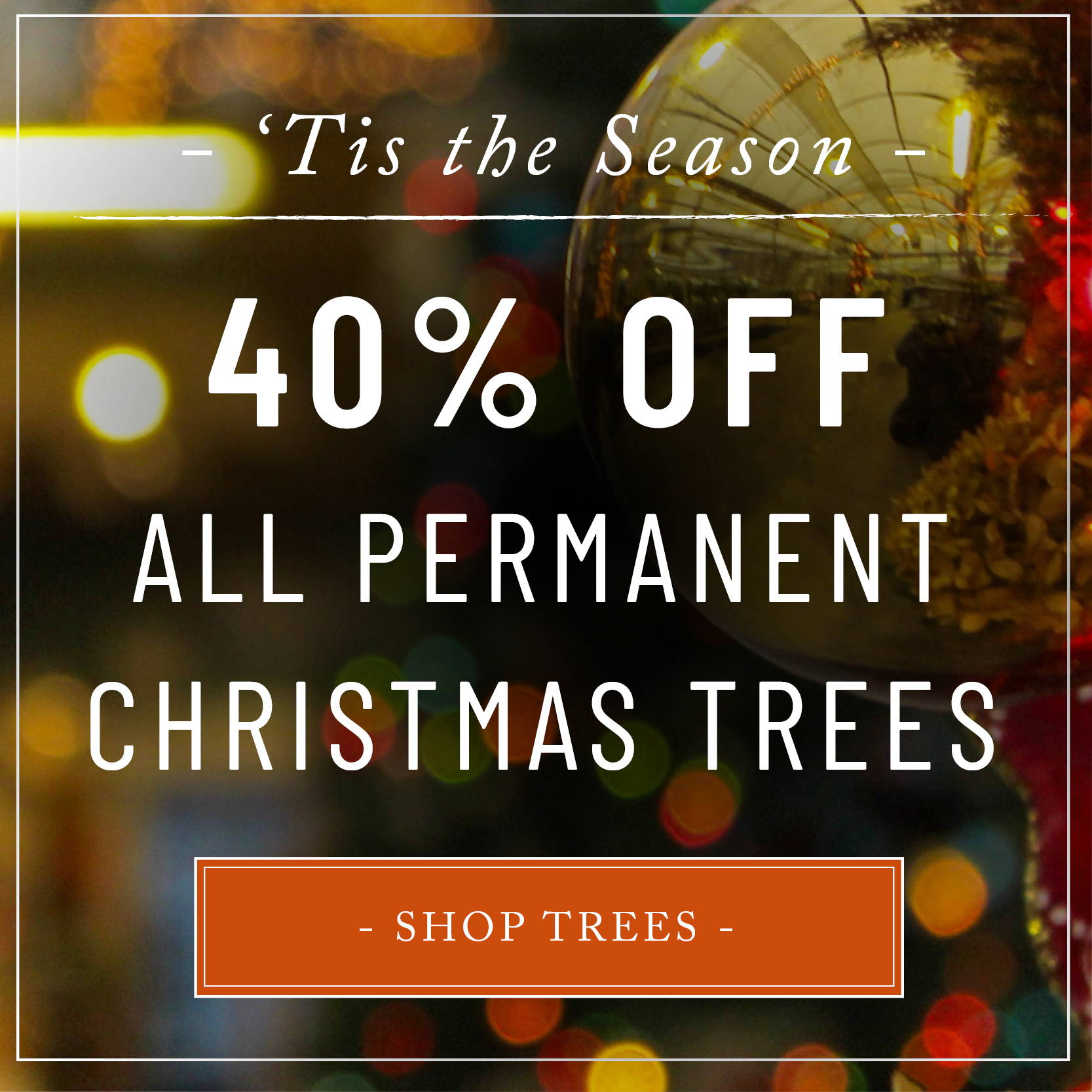 40% OFF All Permanent Christmas Trees