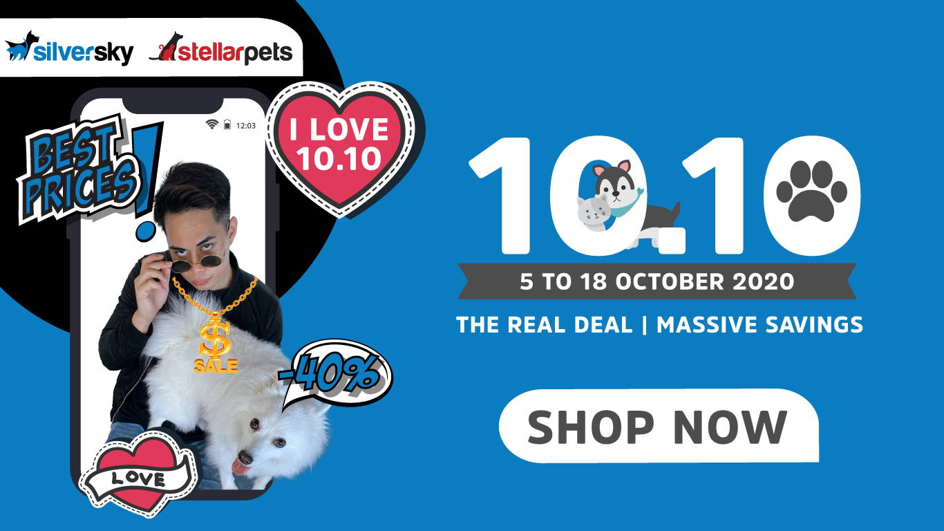 silversky stellarpets 10.10 promotion online pet shop singapore pawpy kisses.