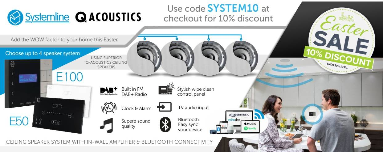 Systemline and Q Install 10% Discount at Audio Volt