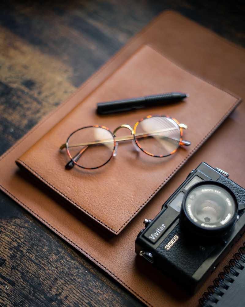 brown protective writing pad