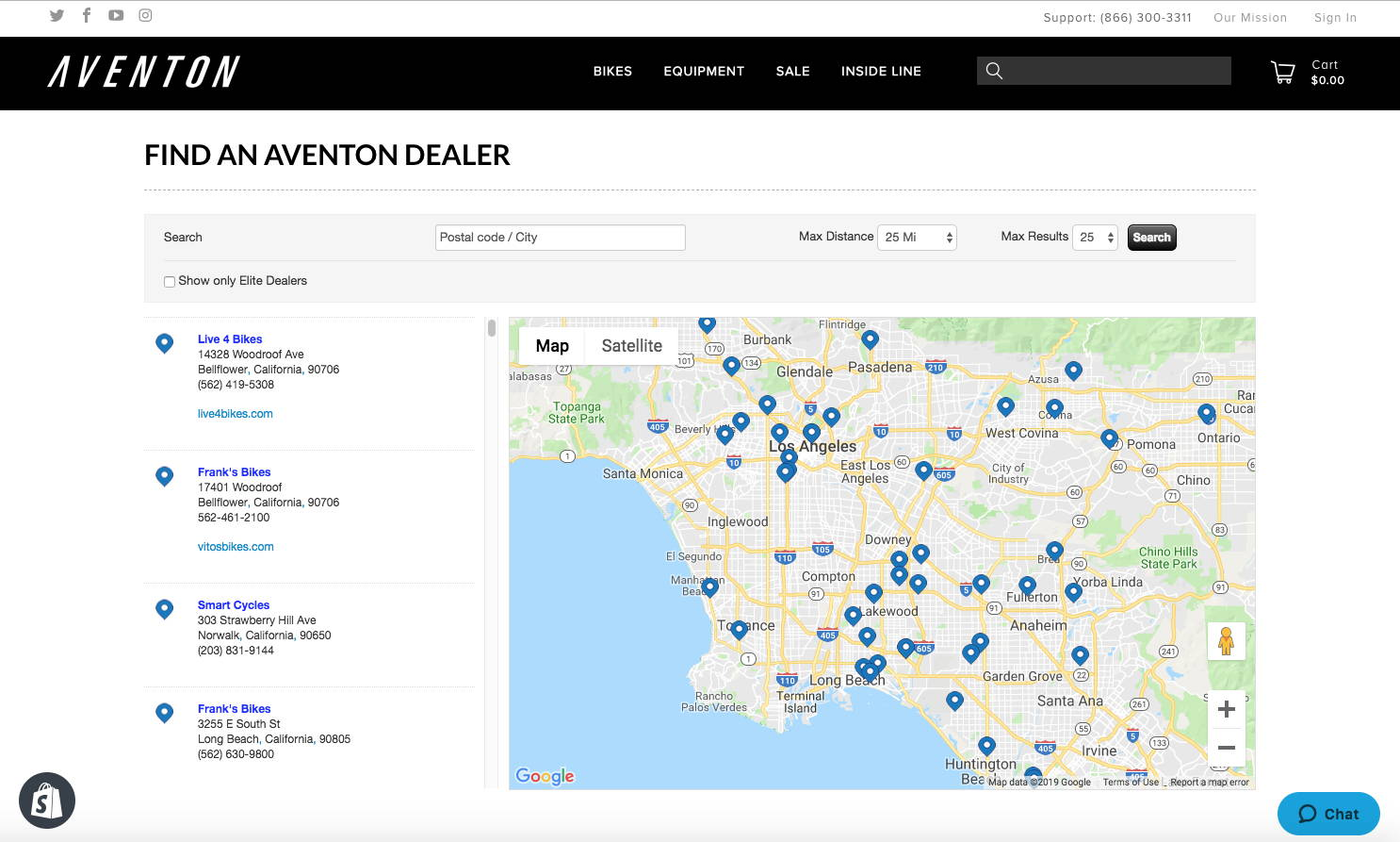 Aventon Dealers Locator