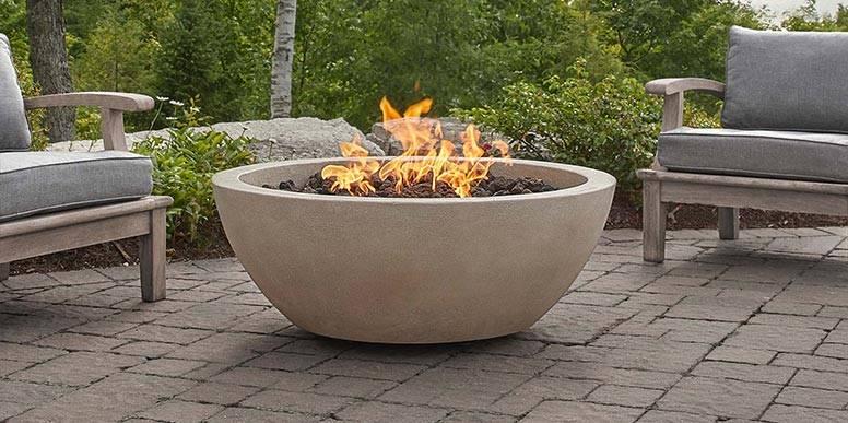 CONCRETE FIRE TABLES & BOWLS by JENSEN CO.
