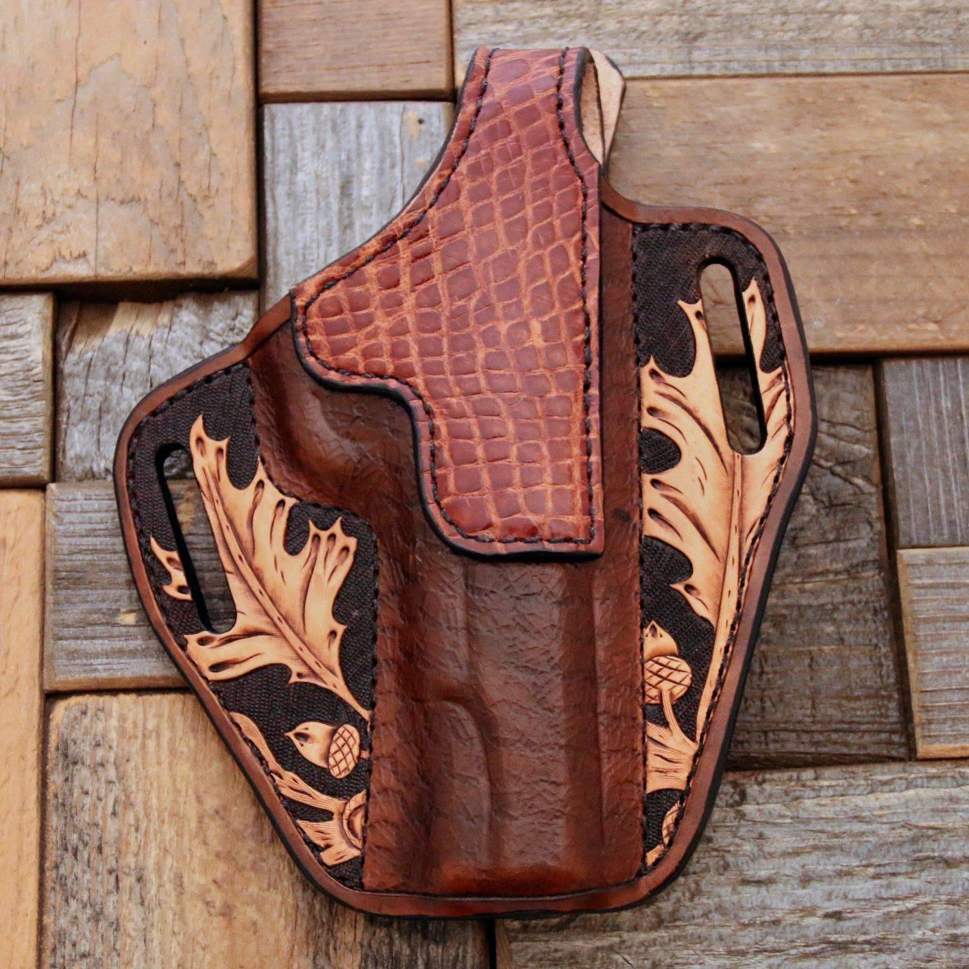 Custom Tooled Alligator Holster