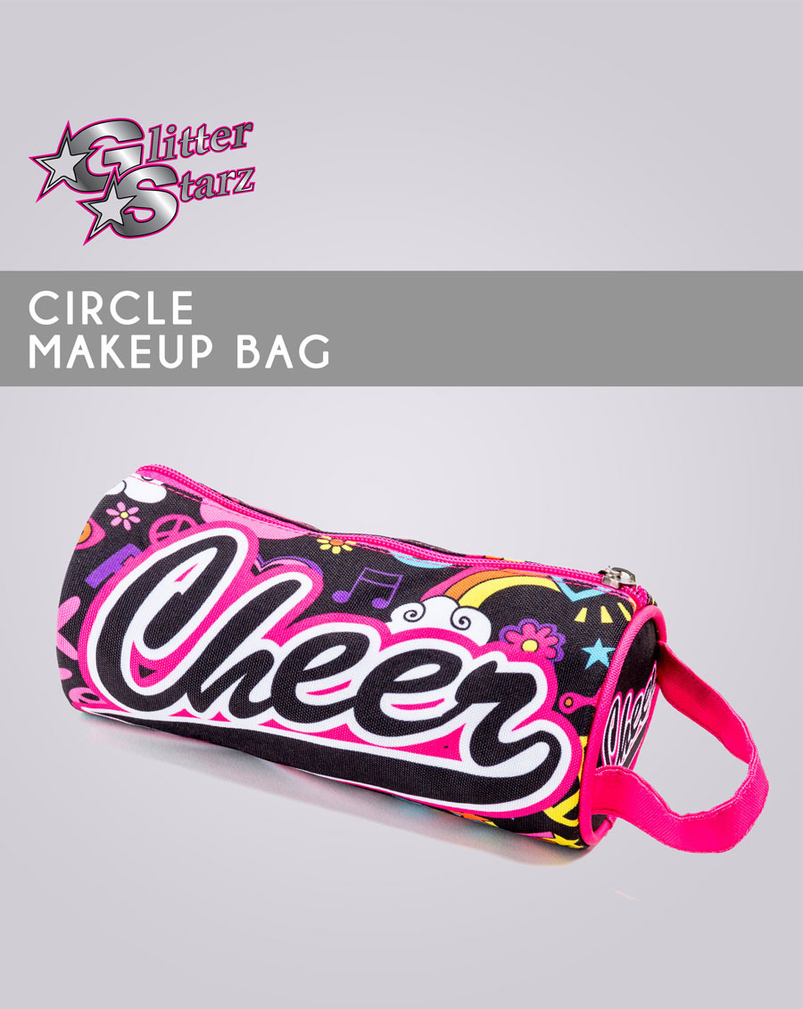 circle makeup bag dyesub sublimated cheer travel accessories