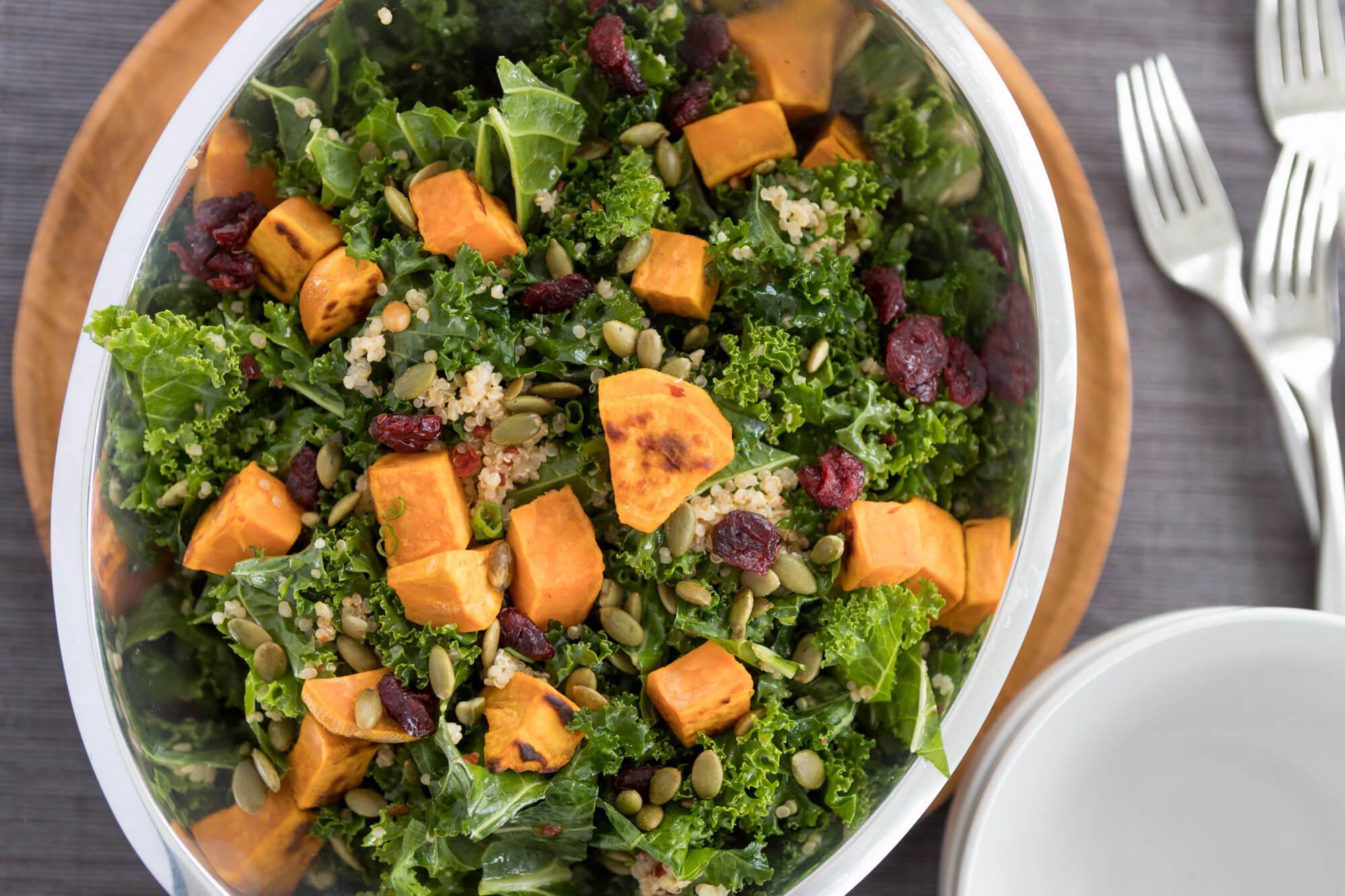 Kale + Sweet Potato Salad