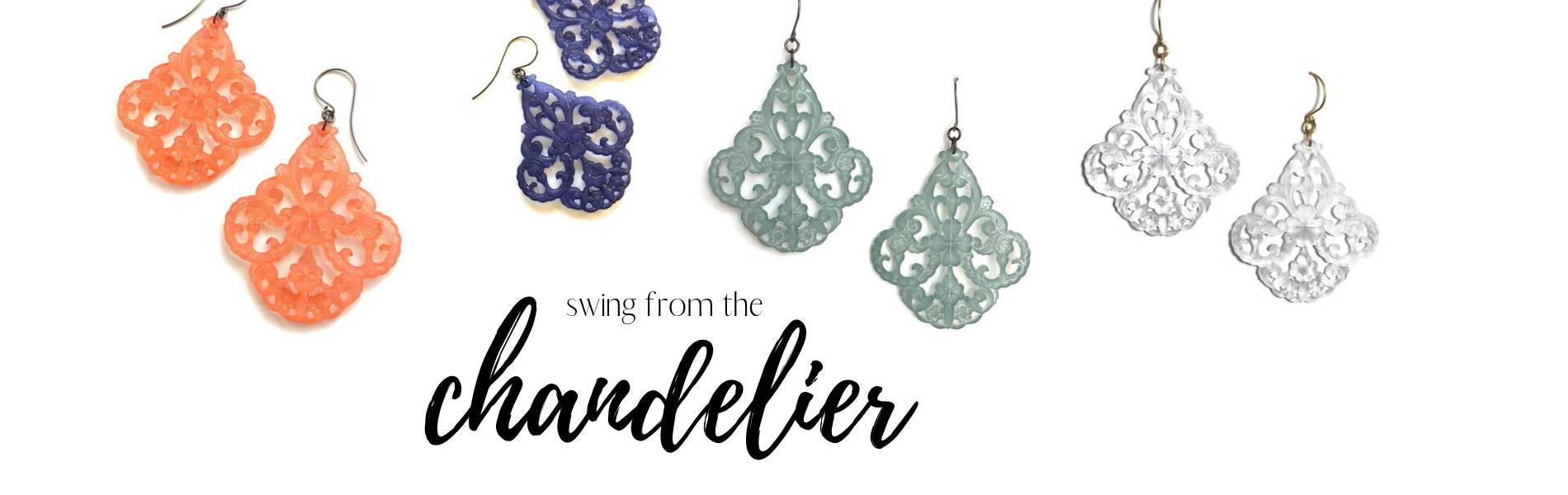 chandelier filigree statement earrings