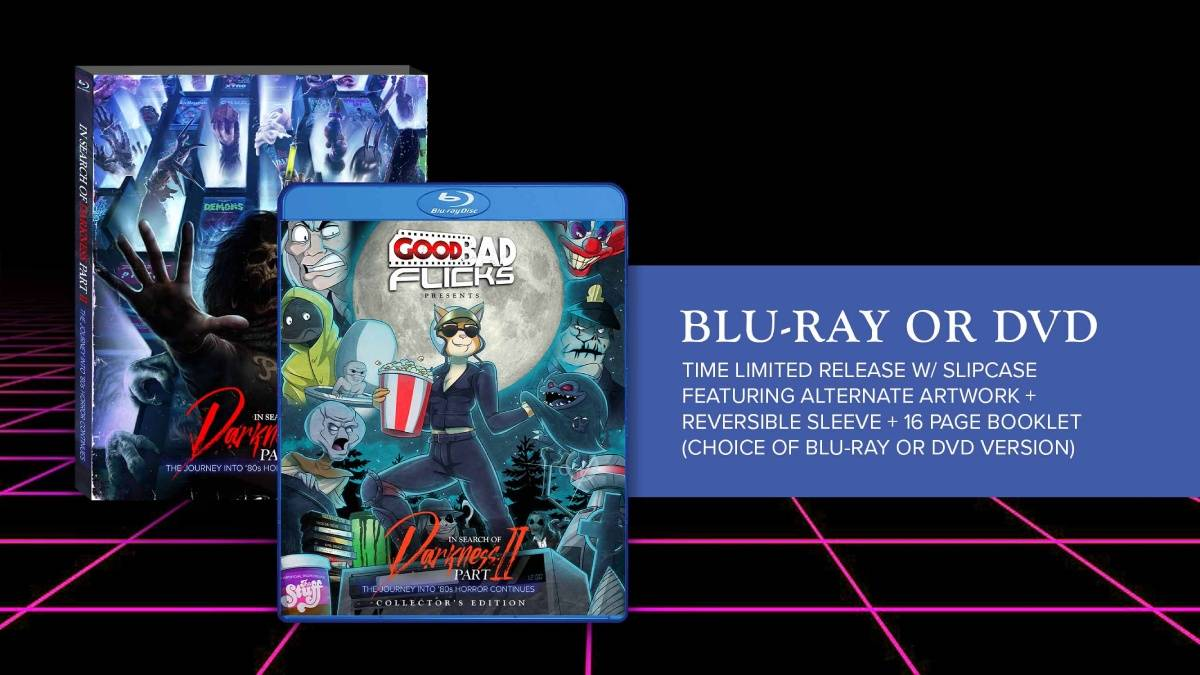 In Search of Darkness: Part 2, Good Bad Flicks collector's edition blu-ray dvd package