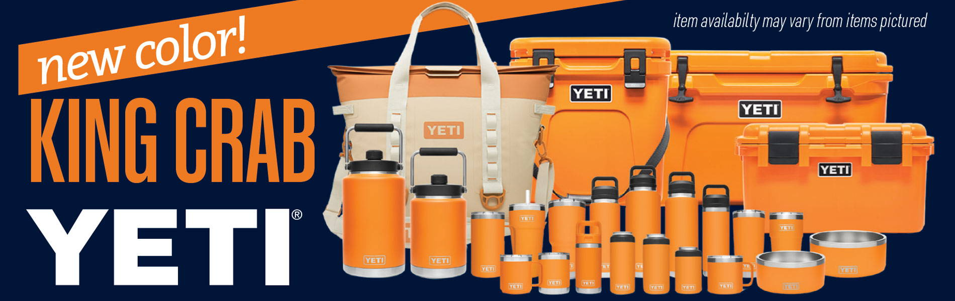 NEW COLOR! King Crab Orange - Shop YETI in Stock Now