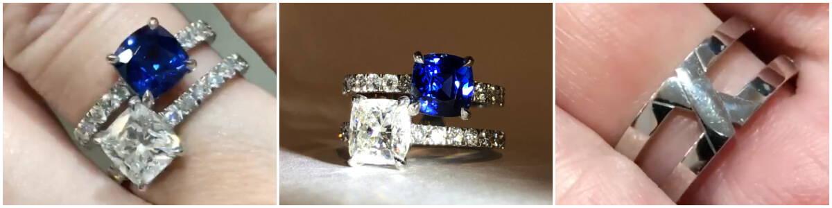 sapphire and diamond toi et moi