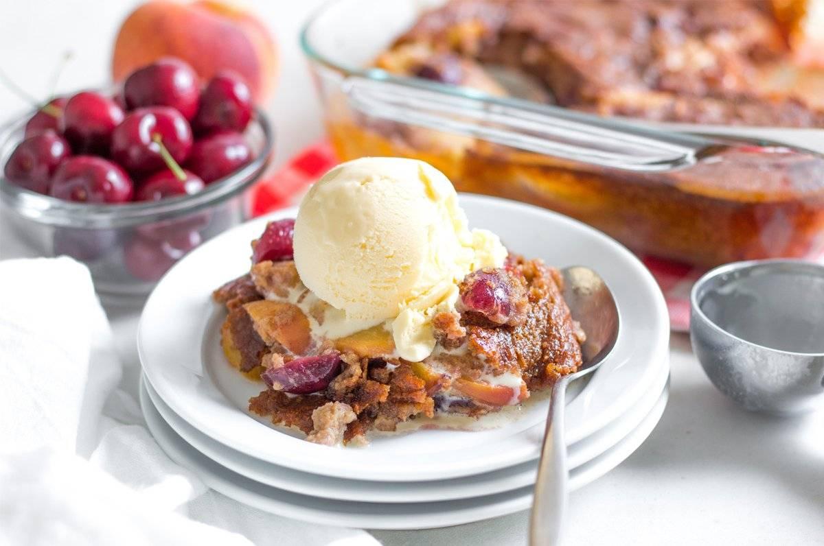Cherry Peach Cobbler Recipe